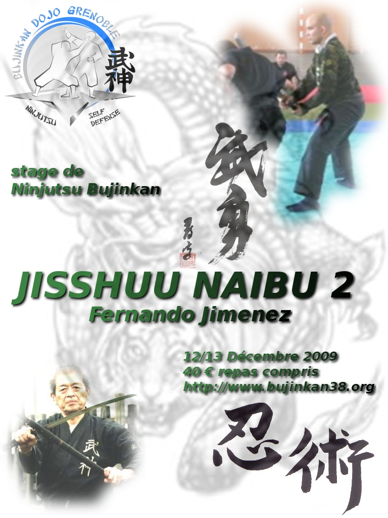 Stage de Ninjutsu Bujinkan à Grenoble